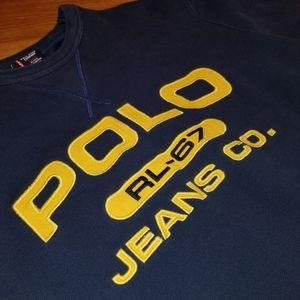 VTG POLO Jeans Crewneck Fleece Sweatshirt